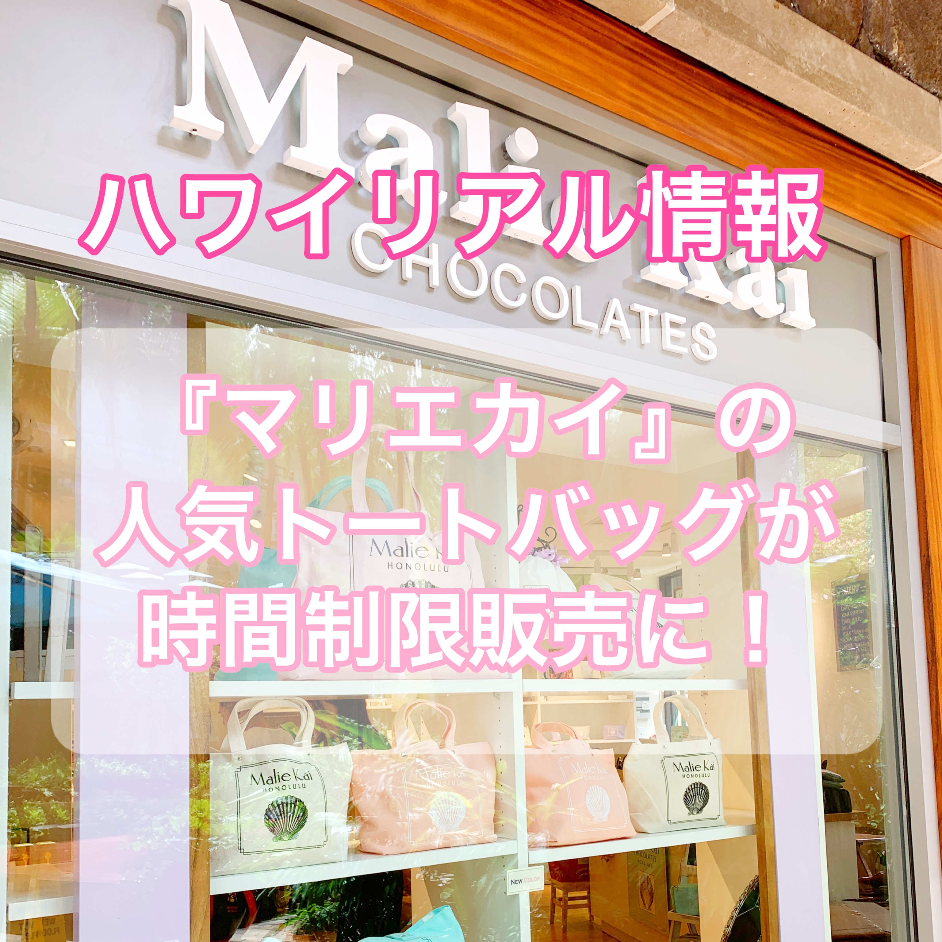 【ハワイ土産】「マリエカイ・チョコレート」限定トートバッグの購入方法を徹底解説【Part1】