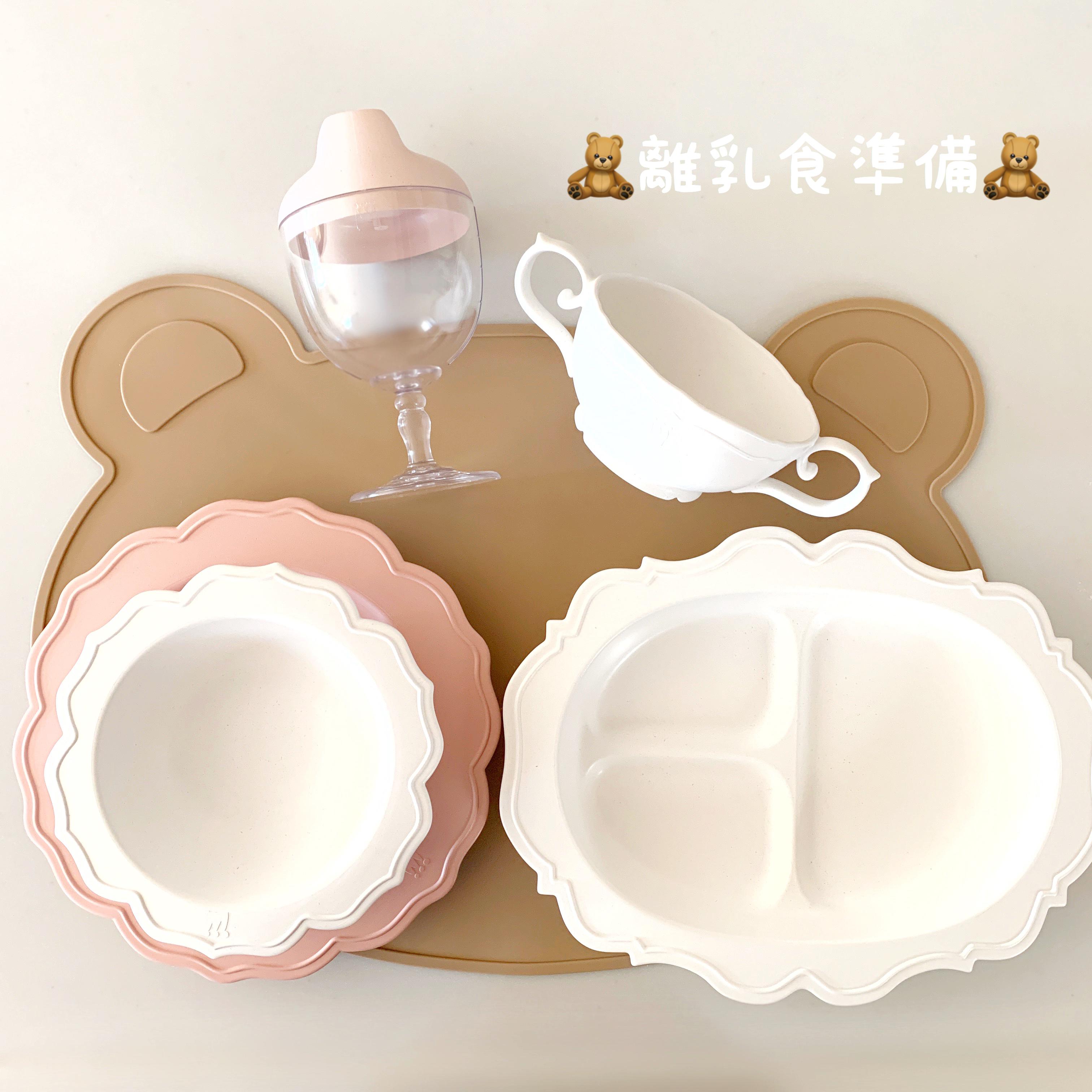 【ハワイ子育て】わくわく離乳食準備【かわいいベビー食器】