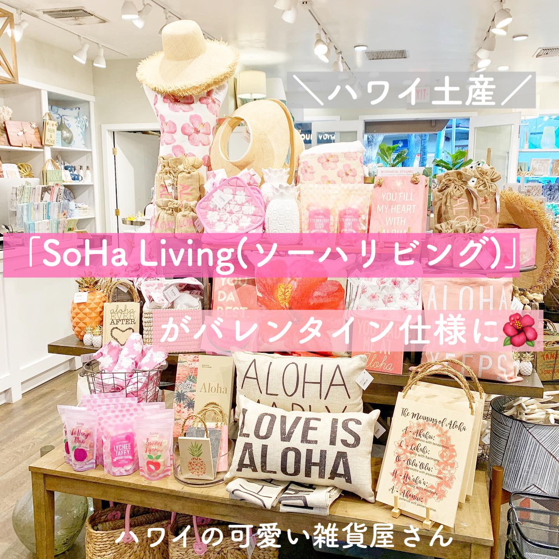 【ハワイ雑貨】「SoHa Living(ソーハリビング) 」【バレンタイン仕様】