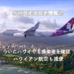 【ハワイコロナ情報】ついに感染者を確認 ハワイアン航空も羽田便を減便