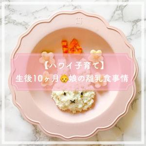 【ハワイ子育て】娘の離乳食事情 3回食手づかみ食べ【生後10ヶ月】