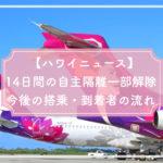 【ハワイニュース】14日間の自主隔離一部解除 今後の搭乗・到着者の流れ